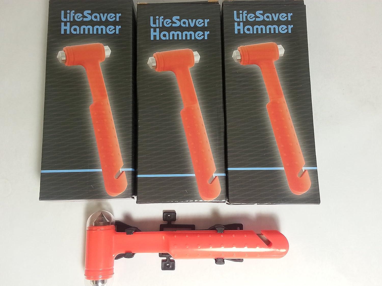 LIFESAVER martillo y cinturón cutter- (Pack de 3): Amazon.es: Coche y moto