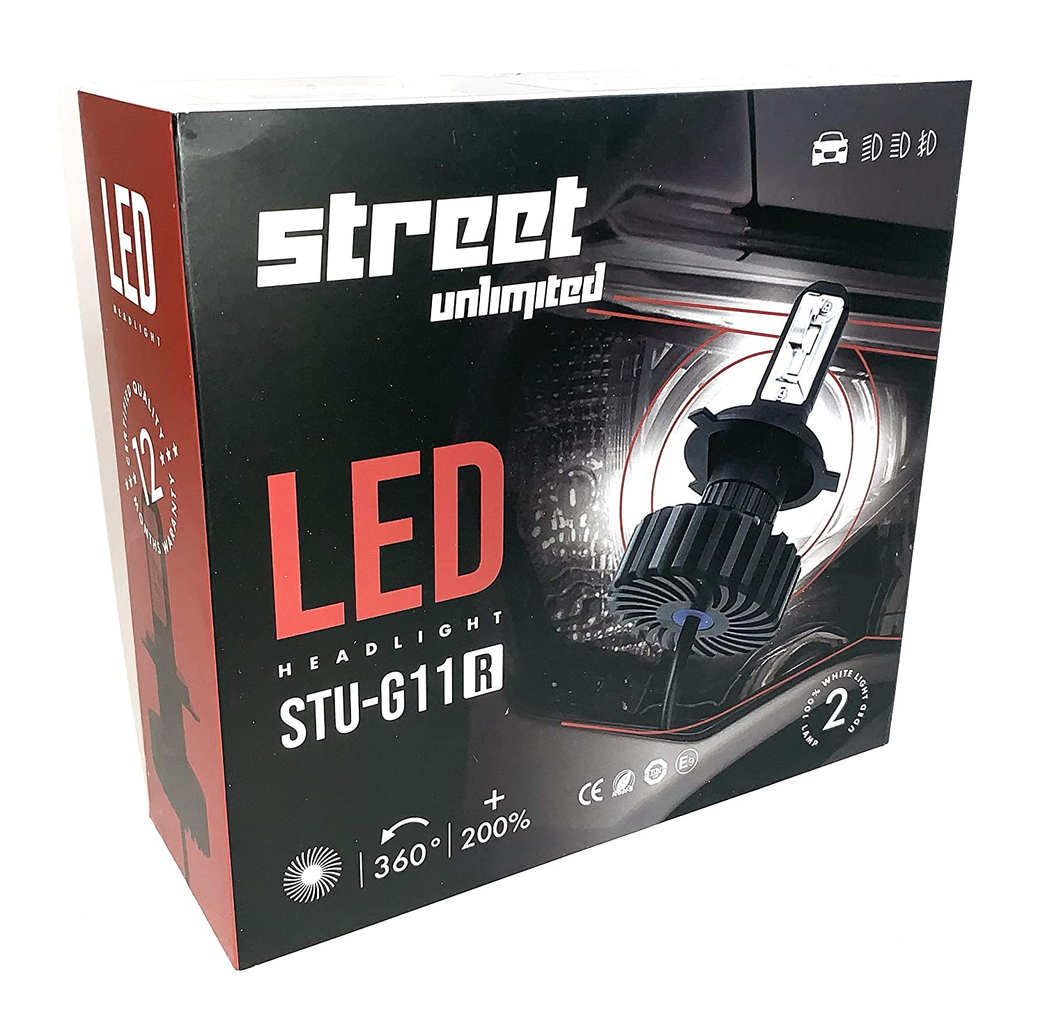 Amazon.com: StreetUnlimited Led Headlights H4 9003 6000k Beam Combo, Fanless, Quiet, Xtreme Super White Color Chips, Plug and Play, Works with Any Car, ...