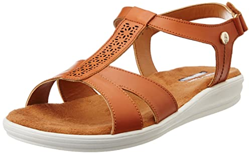 392c7ac896cd Hush Puppies Women s Bella Sandal Tan Light Brown Leather Fashion Sandals -  5 UK India (38 EU)(5643965)  Buy Online at Low Prices in India - Amazon.in