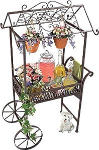 Design Toscano Jardin a la Francaise Flower Pushcart
