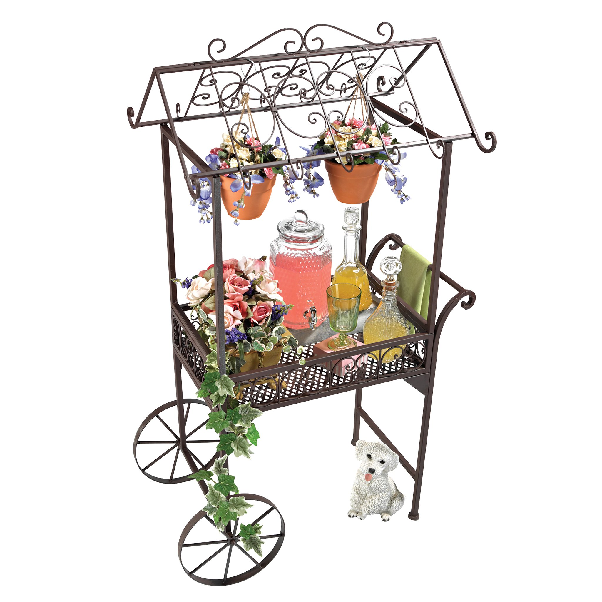 Design Toscano Jardin a la Francaise Flower Pushcart by Design Toscano