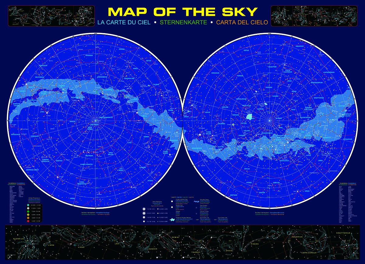 Amazoncom EuroGraphics Map of the Sky 1000 Piece Puzzle Toys