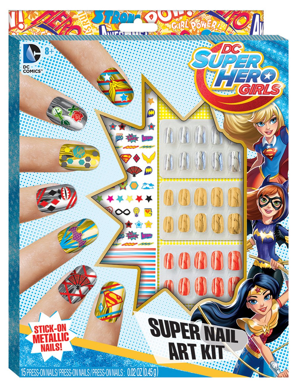 Amazon.com: DC Superhero Girls Super Nail Art Kit: Toys & Games