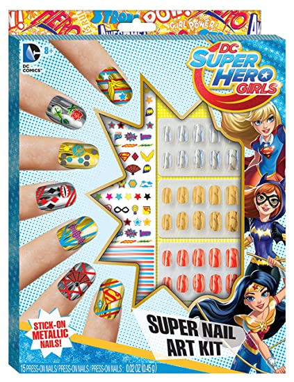 Amazon Dc Superhero Girls Super Nail Art Kit Toys Games