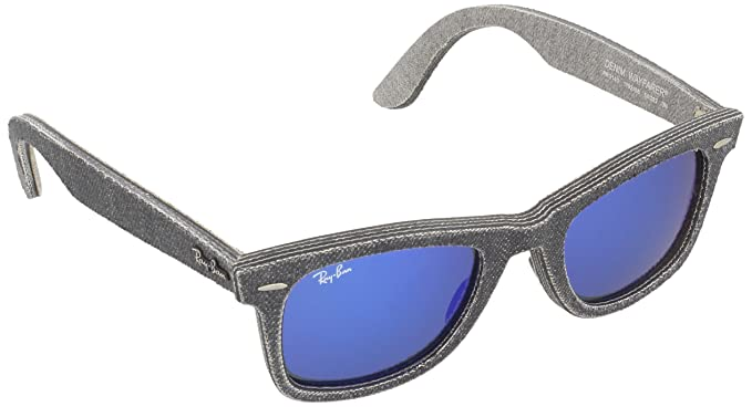 27f4ebd720f0b7 RAYBAN Unisex Sonnenbrille Original Wayfarer, Mehrfarbig (Gestell:  Schwarz/Grau, Gläser:
