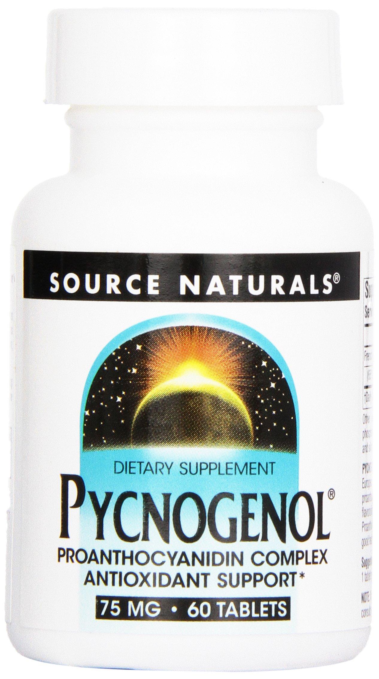 Source Naturals Pycnogenol 75mg 60 Tablets (Pack of 12)
