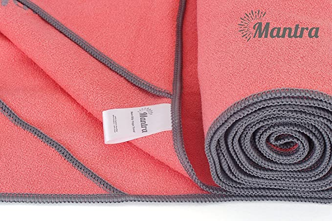 Mantra TM - Toalla de Yoga Antideslizante Toalla de Yoga Caliente ...