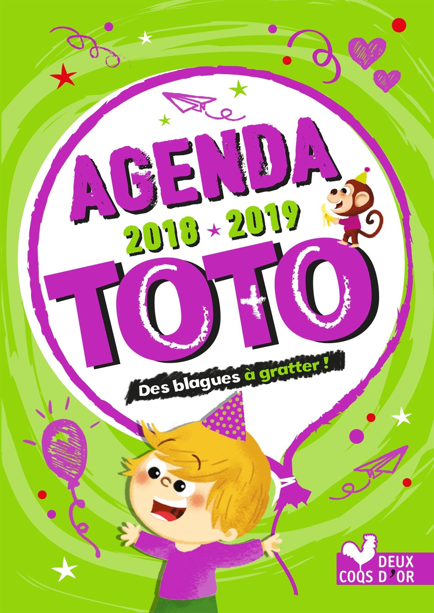 Agenda de Toto 2018-2019 - avec des stickers blagues à ...