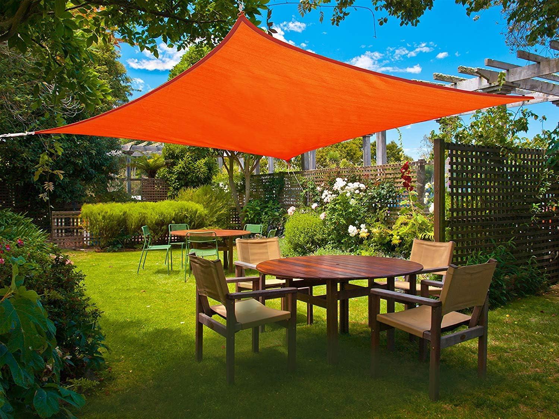 98/% UV Block Outdoor Sun Shade Sail Garden Patio Suncreen Awning Canopy Cover ×1
