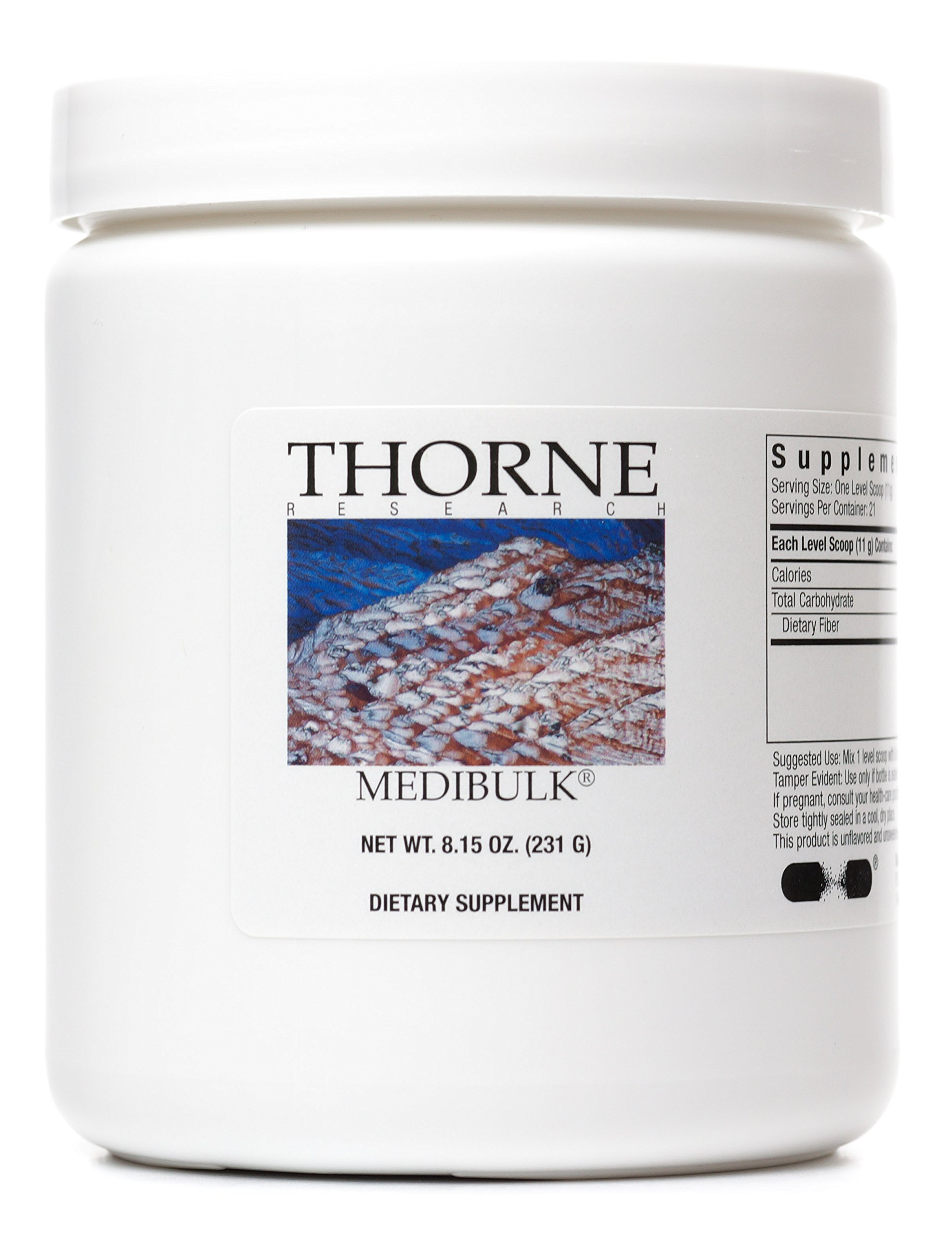Thorne Research - Medibulk - Gluten-free Fiber Supplement - Powdered - 8.15 ounces (231 g)