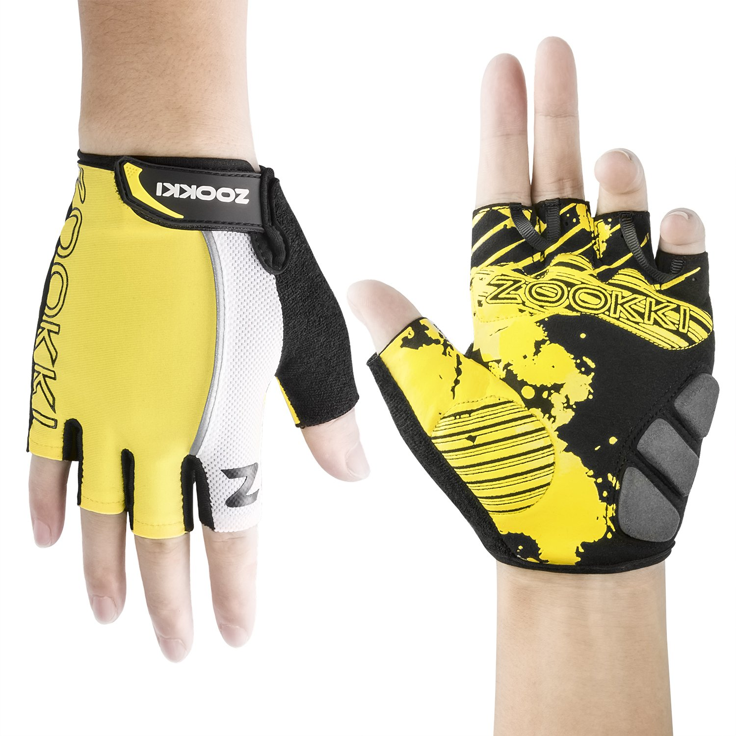 Zookki Cycling Gloves Mountain Bike Gloves Road Racing Bicycle
