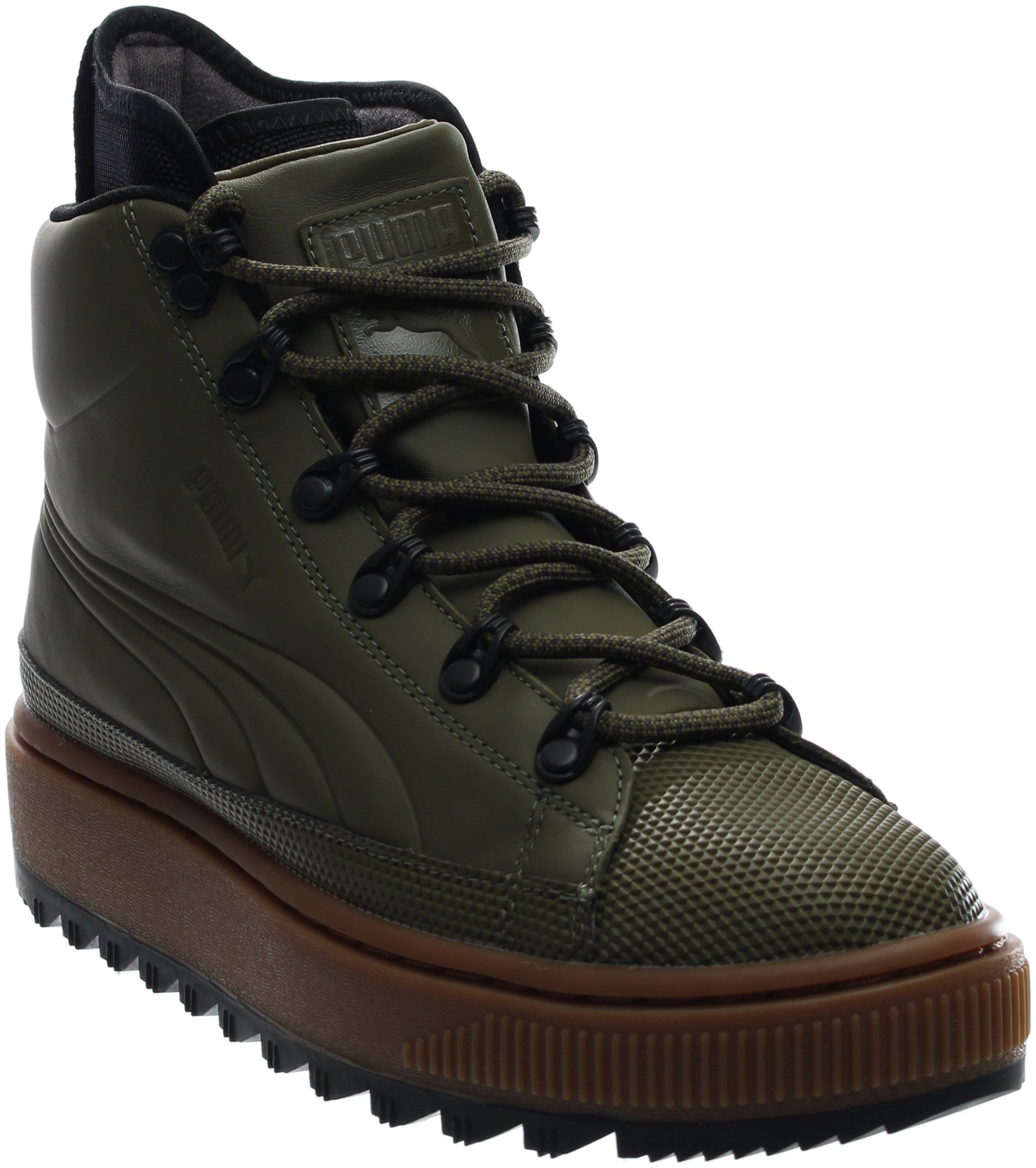 PUMA Men's The Ren Boot Burnt Olive Black Athletic Shoe