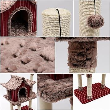 Mpetapt Árbol rascador para Gatos Casa Condo Muebles Cama Poste Mascota Casa: Amazon.es: Productos para mascotas