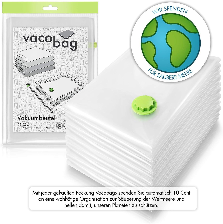10 Premium Vakuumbeutel inkl. Reise Kompressionsbeutel (3