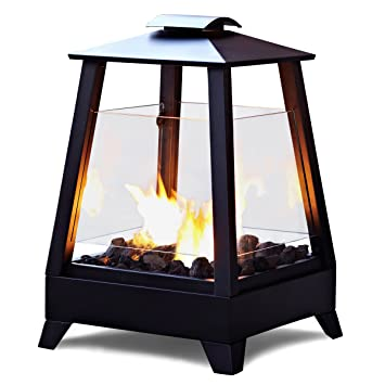 Sonoma Outdoor Fireplace. Real Flame 2950 BK Sonoma Outdoor Fireplace  Black Amazon com