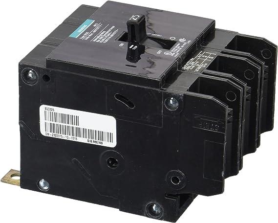 BQD325 Siemens 25 Amp 3 Pole 480 Volt Bolt-On Molded Case Circuit Breaker