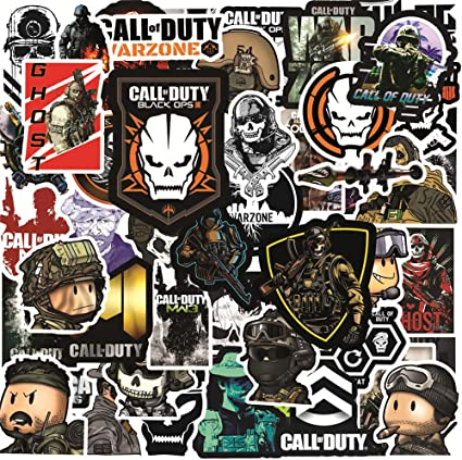 Amazon.com: 50pcs Gaming Call of Duty Stickers Vinyl Waterproof Stickers for Teens Adults Laptop Water Bottles Skateboard Guitar Car Luggage DIY Stickers: Computers & Accessories