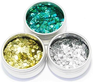 Paquete de purpurina biodegradable, mezcla de sirena, plata y oro ...