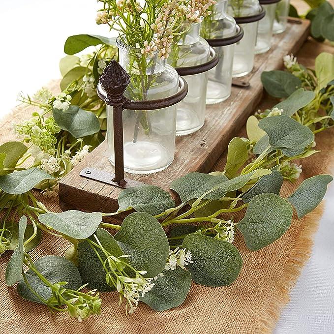 12 Heads Artificial Lavender Flower Leaves Bouquet Home Wedding Garden RGS