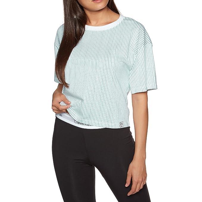Calvin Klein Pijama - para hombre Blanco Millenial Stripe Simmer Green X-Small