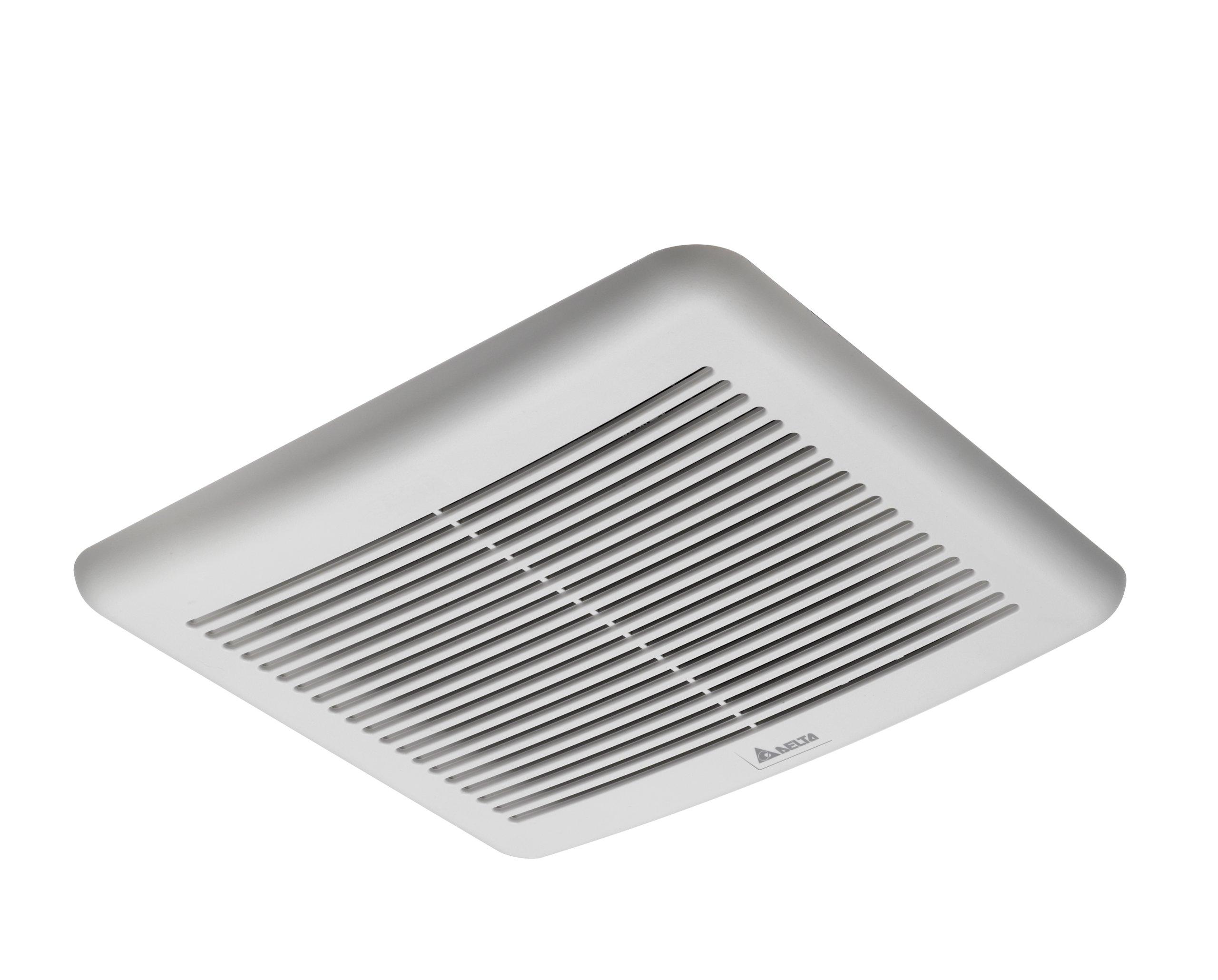 Delta BreezSlim VFB050B3A1 50 CFM Exhaust Bath Fan, White, 1 Sone by Delta Electronics (Image #1)
