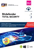 BitDefender Total Security Latest Version (Windows / Mac / Android / iOS) - 1 Device, 3 Years (Email Delivery in 2 hours - No CD)