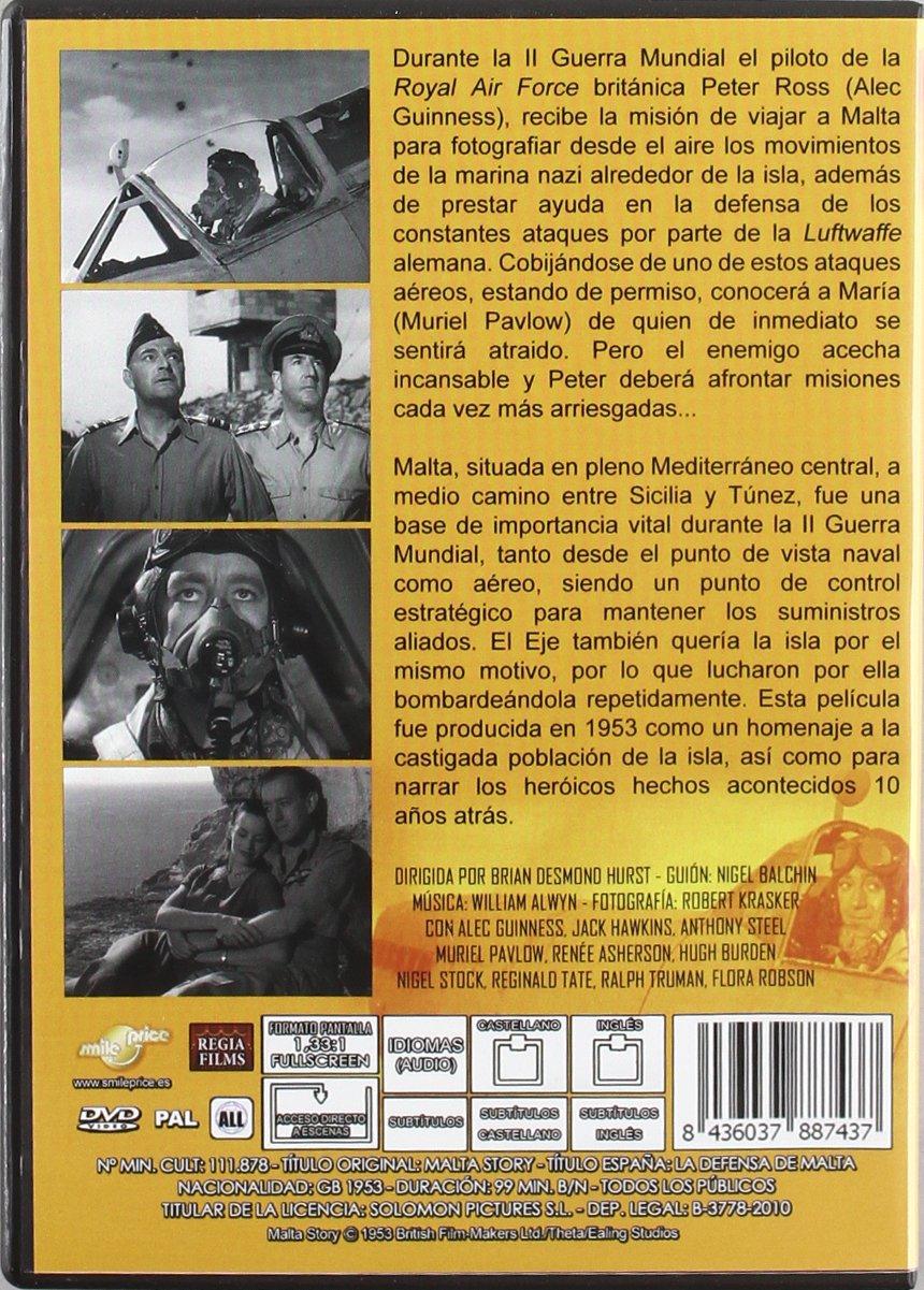 Historia De Malta [DVD]: Amazon.es: Alec Guinness, Jack Hawkins, Anthony Steel, Brian Desmond Hurst, Alec Guinness, Jack Hawkins, Peter De Sarigny: Cine y Series TV