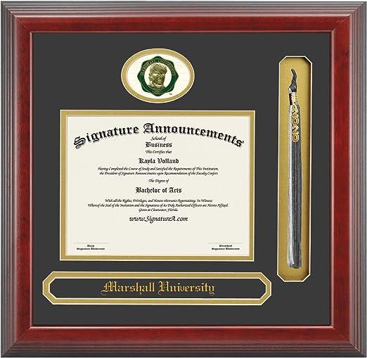 Professional//Doctor Sculpted Foil Seal Graduation Diploma Frame 16 x 16 Cherry Signature Announcements Marshall-University Undergraduate