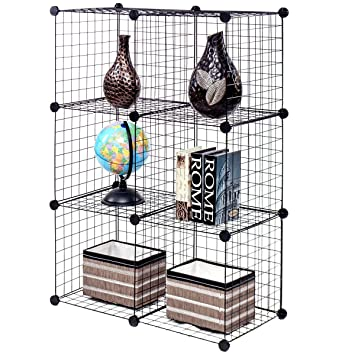 Amazon.com: DIY 6 Cube Grid Wire Cube Shelves: Kitchen & Dining