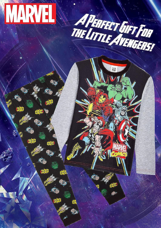 Pijamas Ni/ños de Los Vengadores Superheroes Capitan America Conjunto de Dos Piezas Manga Larga Iron Man y Thor Regalos para Ni/ños y Adolescentes Hulk Marvel Avengers Pijama Ni/ño