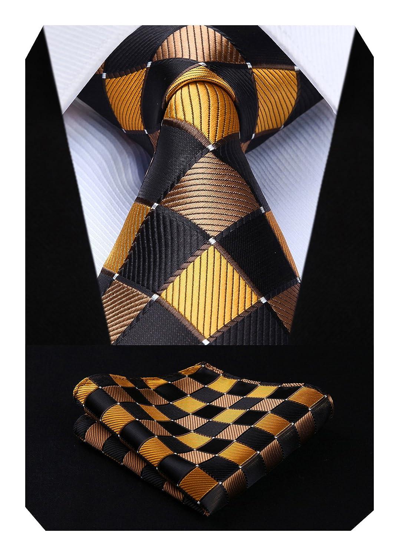 54a6d79e114e2 Hisdern Verifier Cravate de mariage Mouchoir Pour des hommes Cravate & Carre  de poche Set TC807Q8S