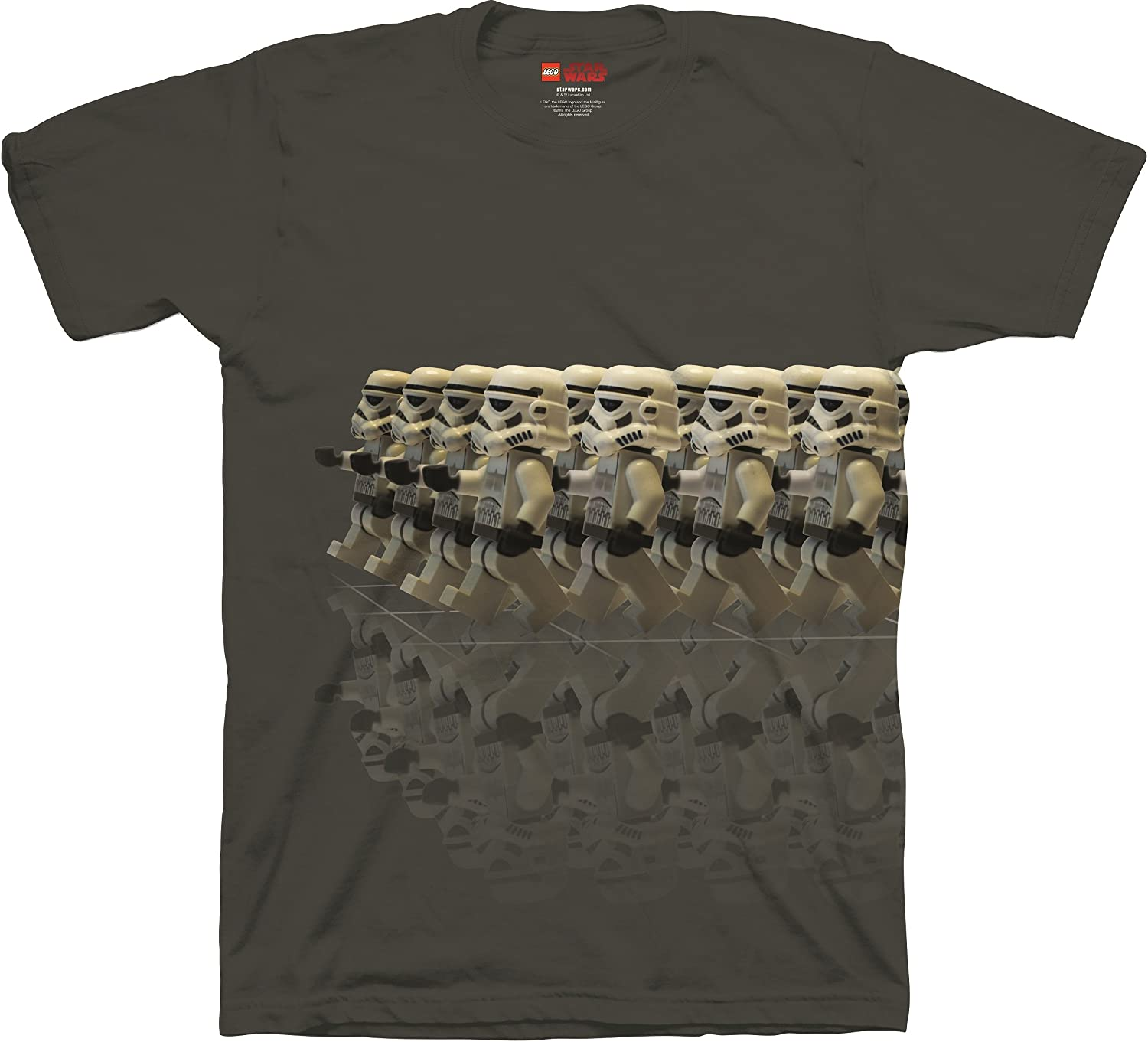 100/% Cotton Isaac Morris Lego Star Wars T-Shirt Marching Stormtroopers