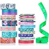 Cute Washi Tape Set with 3 sizes   15mm 8mm and 3mm Wide Skinny and Thin   Decorative Holiday Craft Tape   Colorful Tape   Floral Japanese Pastel Seasonal Art   Bujo Supplies   Scrapbook Tape 21 Rolls