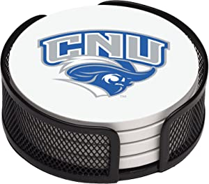 Thirstystone Stoneware Drink Coaster Set with Holder, Christopher Newport University