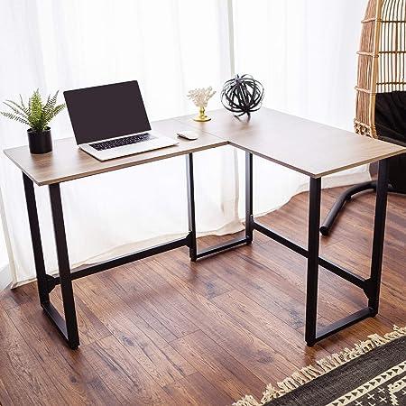 Viewee Mesa Escritorio en l 128x100x74 cm Escritorio Esquina para Oficina Unica/M¨²ltiple o Esquina de la Casa de Alquiler Ahorra Espacio: Amazon.es: Hogar