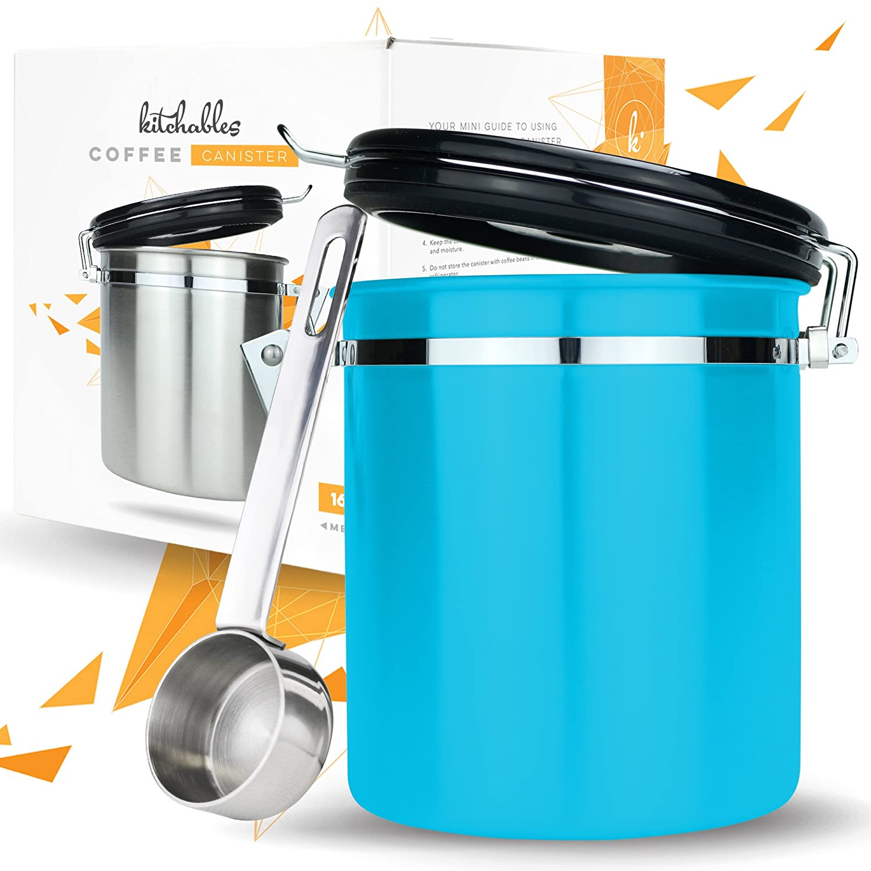 Amazon.com: Coffee Storage Container with Scoop - Airfresh Valve ...