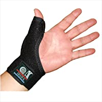 IRUFA,3D Breathable Reversible CMC Joint Thumb Stabilizer, Thumb Spica, Abducted Thumb for BlackBerry Thumb, Trigger…