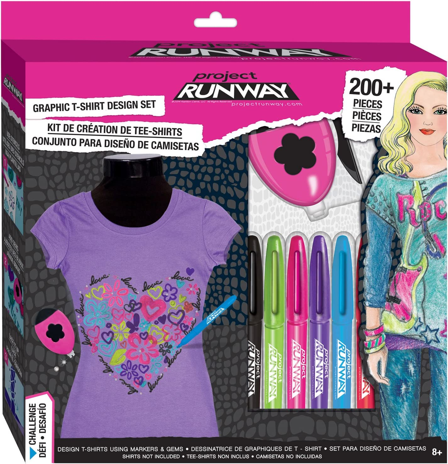 Amazon Com Fashion Angels Project Runway Graphic T Shirt Studio Box Set Toys Games