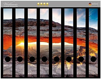 Lomo de archivadores Pegatinas sol Inyección AM Horizont – Vibrantes Roca – Libreta en Premium Calidad