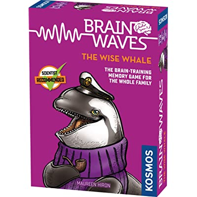 Brainwaves: The Wise Whale - A Kosmos Game from Thames & Kosmos | Fun, Scientist Approved, Family-Friendly Games to Sharpen You Mind & Train Your Brain, for Ages 8+: Toys & Games