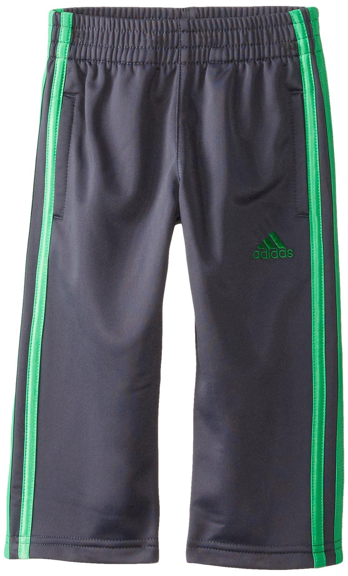 adidas Toddler Boys' Tricot Pant, Mercury Grey/Green, 2T