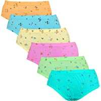 Pride Apparel Ladies Panties 100% Cotton (Combo of 6 Pack)