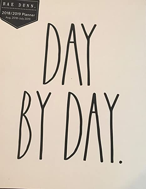 photograph about Day by Day Planner identify : Rae Dunn Working day as a result of Working day 12 Thirty day period Planner 2018-2019