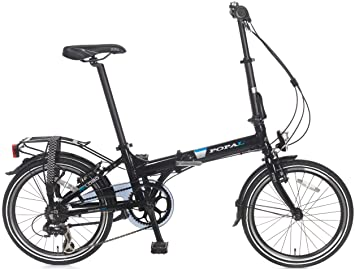 20 Pulgadas Bicicleta plegable 6 velocidades Popal Reload F207, negro
