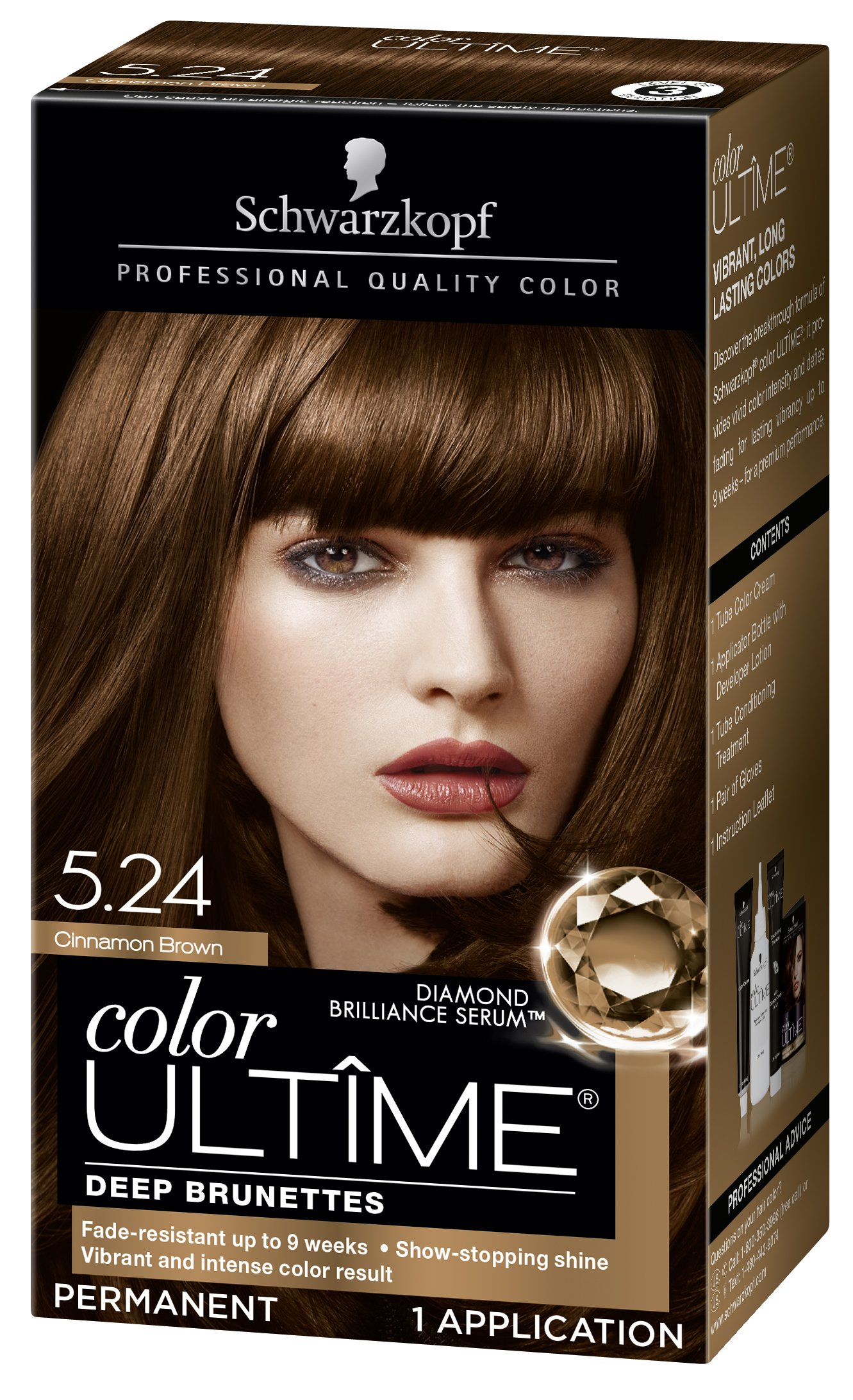 Amazon Com Schwarzkopf Color Ultime Hair Color Cream 4 6 Macadamia