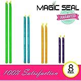 Magic Seal Bag Sealer Sticks - 8 Pack - Keeps food fresh Longer