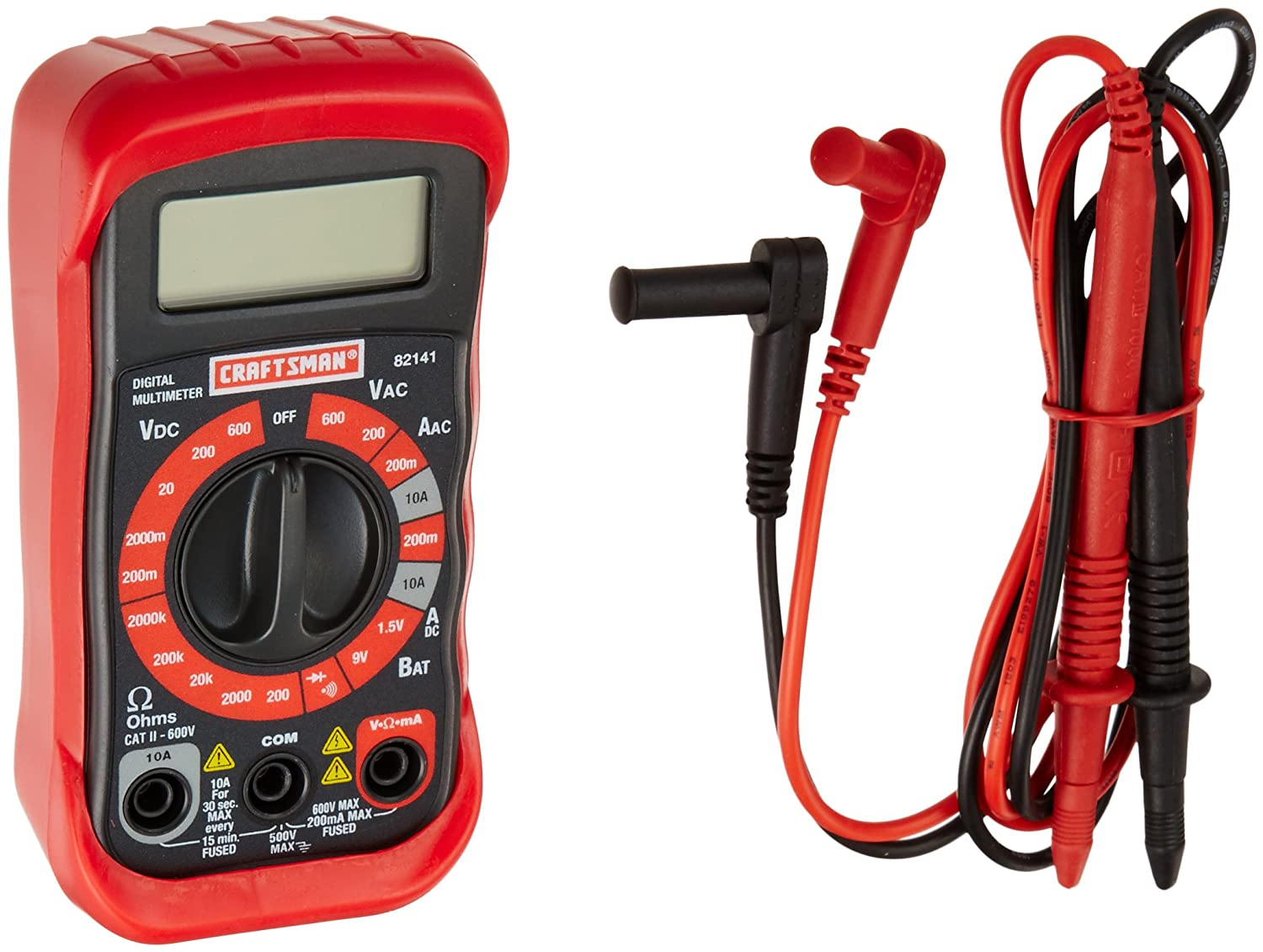 Craftsman 34-82141 Digital Multimeter with 8 Functions and 20 Ranges ...