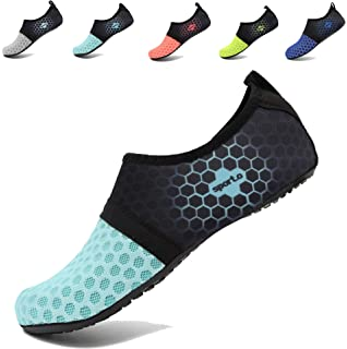 0bbcebfd320bfe AoSiFu Women s Men s Beach Aqua Water Sports Shoe Swimming Footwears for  Surf Yoga Aerobics L-