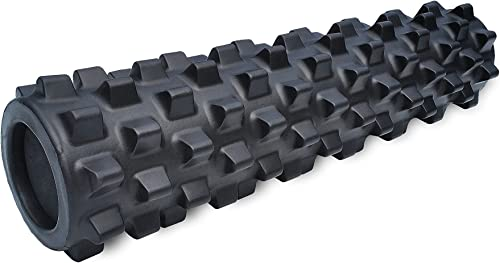 RumbleRoller – Textured Muscle Foam Roller Manipulates Soft Tissue Like A Massage Therapist