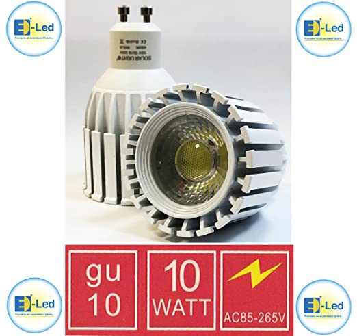 bombilla LED GU10 10 W 8 W Foco Blanco de aluminio Luz Blanca Cálida Natural fría